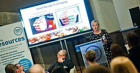 Joyce Dempsey, consultant at Finsbury Group, shared innovations in transit packaging which have reduced pack weight by 25%.