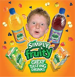 AG Barr is introducing a new look for its range of Simply squashes and 100% juices under the Simply Fruity brand.