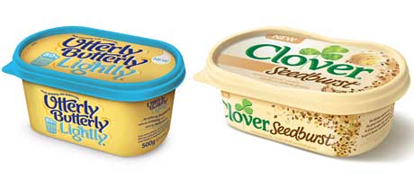 Dairy Crest says its Utterly Butterly brand is worth £1.3bn and growing 2.4%; it recently introduced Clover Seedburst.