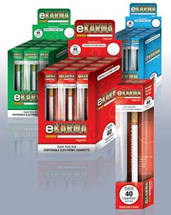 The eKarma range from Fosters Distribution provides disposable e-cigarettes.