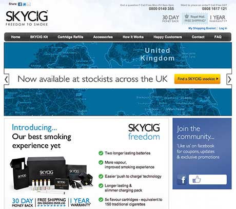 The Skycig e-cigarette range features three strengths and seven flavours.