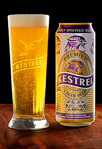 LAGER brand Kestrel, which appeared on shelves and in bars across the UK in the 1980s and 90s relaunched last month with a full range of lagers promised, and a new Scottish connection.