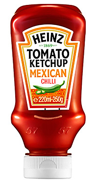 MEXICAN chilli is the latest ingredient to spice up Heinz tomato ketchup.