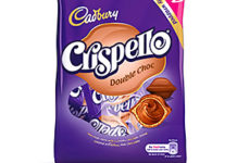 CADBURY's Crispello, a milk chocolate-covered crispy wafer shell with a creamy filling, is now available in a 120g bag.