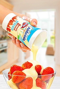 Premier Foods has launched a new vanilla-flavoured pouring sauce just in time for the run-up to summer and the soft-fruit season.