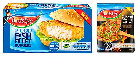 Birds Eye has launched a new product for teenagers who have grown out of fish fingers, as well as three upmarket frozen stir fry meals.