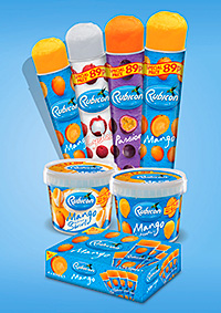 Rubicon's tropical fruit drinks transformed into lollies and ice cream.
