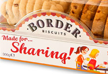 BORDER Biscuits has recently introduced sharing packs of its biscuits which include Strawberry and Cream Shortbread, Toffee Apple Crumbles, Butterscotch Crunch and Milk Chocolate Viennese.