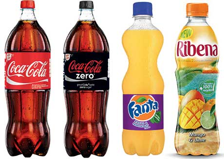 A new size in convenience outlets for the Coke range. New flavours for Fanta. CCE has also revamped its range of Relentless energy drinks and reintroduced Vanilla Coke. Ribena, aiming to harness the sales opportunity of  exotic flavours.