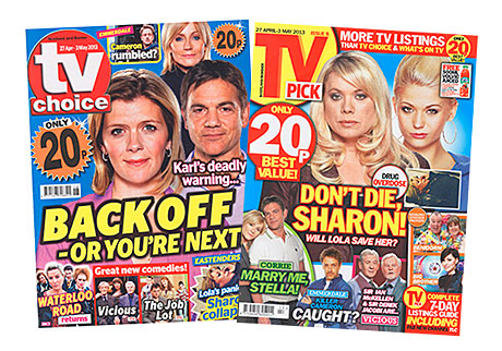 Britain's biggest-selling magazine TV Choice now in a price war with TV Pick, to the dismay of newsagents' trade group the NFRN.