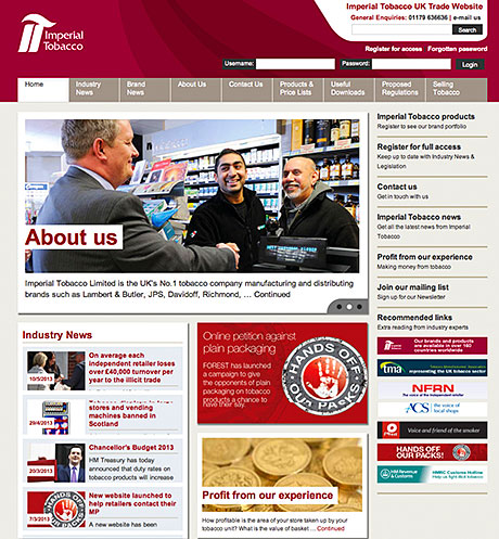 IMPERIAL Tobacco has revamped its special trade website.