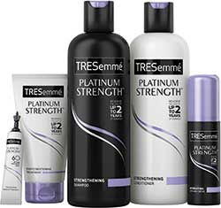 Unilever's TRESemmé is marketed as a portfolio of salon-type hair products at high street prices. The latest range, Platinum Strength, is designed to repair damaged hair.