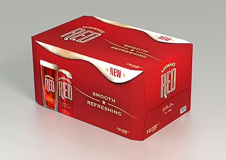 McEwan's Red, a naturally-coloured ale designed to appeal to a younger generation of beer drinkers.