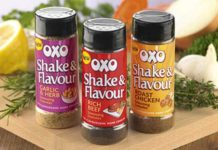 A new product designed to help hard-pushed families get a delicious meal on the table is the latest innovation from Oxo. Shake & Flavour is a shaker pack filled with fine seasoning granules that can be sprinkled into food before or during the cooking process. They can also be shaken on at the end, as a finishing touch before serving.