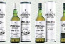 """ISLAY malt Laphroaig has a new look. The updated packaging features a monochrome label and typeface that brand owner, Beam Inc, hopes will create """"a warmer shelf appeal""""."""
