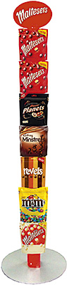 SHARING-sized bags of confectionery account for a major proportion of big-night-in sales. Mars Chocolate argues that, as store space is often limited, it's vital that every fixture makes a significant contribution to revenue. Retailers should implement secondary confectionery sites through the store to encourage impulse purchases, and strategic, eye-catching point-of-sale materials can play a valuable role, the firm suggests.