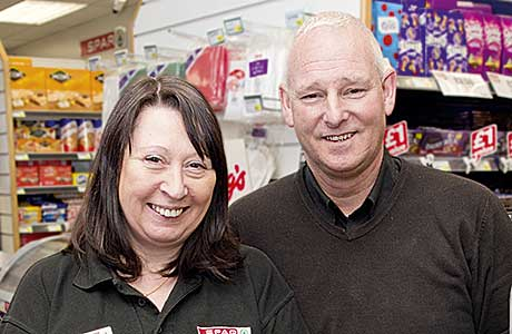 Margaret and Billy Kay – award-winning retailers at Spar, South Street in Greenock. Times are tough and every night's a night in for the store's customers, said Billy.