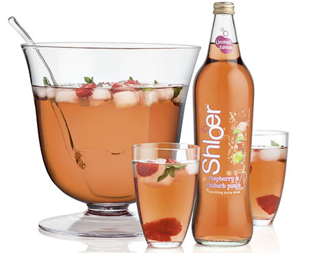 Shloer Raspberry & Rhubarb Punch Limited Edition, for spring and summer, has the standard Shloer RRP of £2.29.