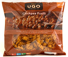 Top innovation: Dell Ugo's gluten-free pasta, made from chickpeas.