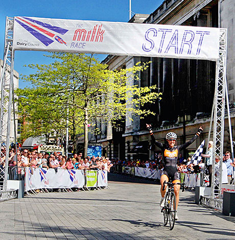 CYCLISTS Felix English and Dani King claimed victory in the men's and women's events of the reborn Milk Race last month.