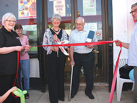 Evelyn Wales, who was the first customer of Spar Condorrat in Cumbernauld, back in 1973, was last month invited by the shop's owners the Clyne family to cut a red ribbon to launch the store's 40th anniversary celebrations.