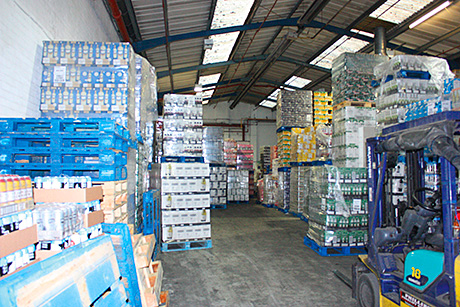 HMRC officials worked for 48 hours to remove duty-fraud alcohol from three storage untis in the English Midlands.