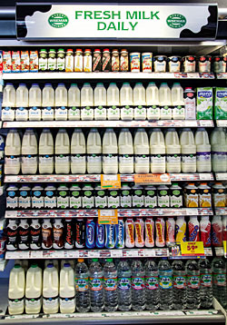 The McLeish range is good and availability is excellent  but in its catchment area it could be worth stocking organic milk, especially semi-skimmed organic milk.