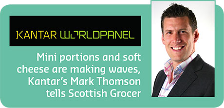 Mini portions and soft cheese are making waves, Kantar's Mark Thomson tells Scottish Grocer