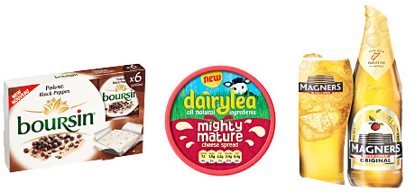 Boursin is pushing its different flavours with a range of Lisa Faulkner recipes; Dairylea's triangles have an expanded flavour range; Philadelphia's Simply Stir sauces offer an option to shoppers looking for tonight's tea.