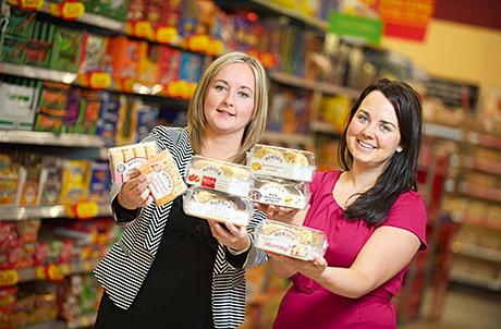 Susanna Lloyd,left, Asda Regional Buyer Scotland and Northern Ireland, and Louise Creevy, right, national account manager Border Biscuits, in Asda with the newly listed Border Biscuits lines.