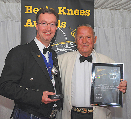 Archie Jess, above right, with Andrew Hemphill, president of Greenock Chamber of Commerce.