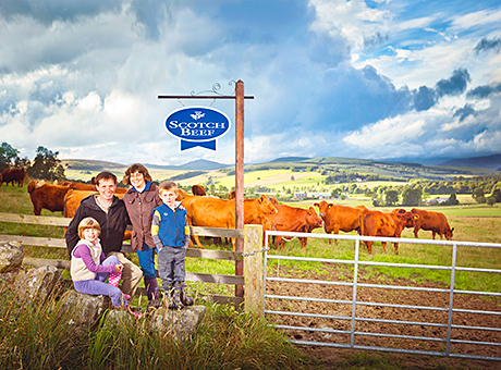 Advertising became a family business earlier this when two Perthshire cattle-farming families starred in the latest Scotch Beef campaign.