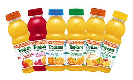 Tropicana is promoting its singe-serve bottles as a breakfast-on-the-go option that is also one of a busy consumer's five a day.