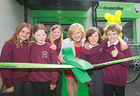 CO-OPERATIVE Food's latest refurbed Scottish store has opened in Strathblane following a £675,000 investment. And one of the area's famous residents popped in to help open the shop along with youngsters from a local school.