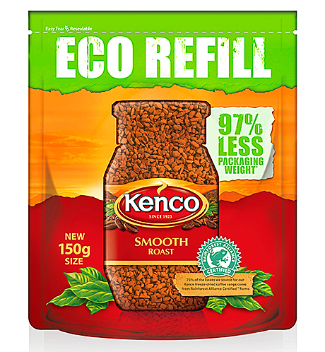 Kenco's Eco Refill packs are now worth £9.1m