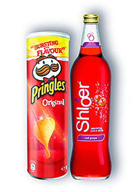Shloer through P&H is giving the opportunity to retail a tube of Pringles and a bottle of Shloer for £3.