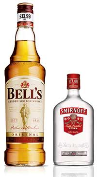 Diageo's leading UK brands have been made available in a range of PMPs across standard and fractional sizes.
