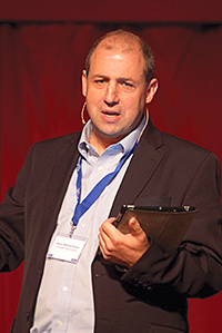 Darcy Willson-Rymer, CEO Costcutter Supermarkets Group, speaks to the SGF Conference.