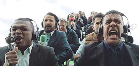 Former footballers feature in the TV commercial The Ride, part of Carlsberg's marketing campaign that links to its three-year sponsorship deal with the Barclays Premier League.