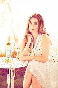 Celebrity Louise Redknapp, above right, is promoting Gallo Family Vineyards Summer White wine.