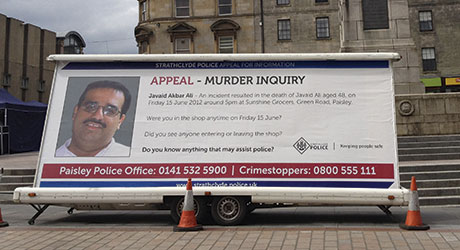 Police in Paisley mounted a major hunt for the killer of local retailer Javaid Ali in summer 2012. Last month Lee Anderson was convicted of culpable homicide and jailed for 15 years.