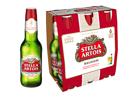 Stella Artois' packaging for Christmas is designed to reflect its continental heritage and its history as a special festive-season beer.