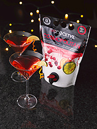 The Manchester Drinks Company predicts strong sales for its ready-made cocktail pouches, above right, over the festive period.