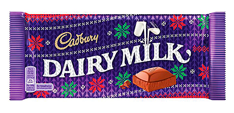Cadbury Dairy Milk tablet gets a Christmas stocking-style pack.
