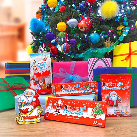 Kinder's festive range features a traditional cuddly Father Christmas on the packaging.