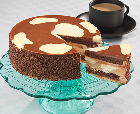 """Coppenrath and Wiese's Milka Chocolate Gateau, top, is """"something consumers would not have tasted before"""", according to the company."""