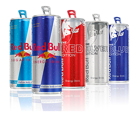 Red Bull has introduced three new flavours and a sugar-free variety.