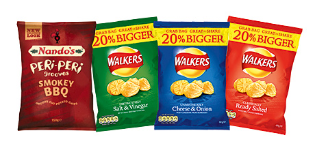 Nando's Peri-Peri Grooves tap into a growing demand for spicy-flavoured snacks. Walkers has increased the size of its Grab Bag, to differentiate it from the standard bag.