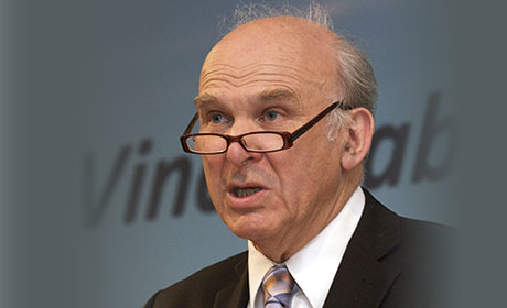 Westminster business, innovation and skills secretary Vince Cable. Picture: Duncan Phillips/CASS