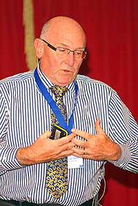 Professor Leigh Sparks, of Stirling University, at the Scottish Grocers' Federation Conference.